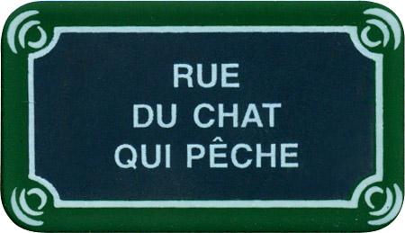 Paris Street Sign Magnet Rue Du Chat Qui Peche