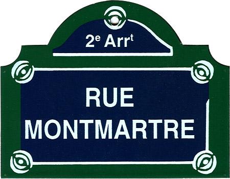 Paris Street Sign Quot Rue Montmartre Quot 4 Quot X3 Quot