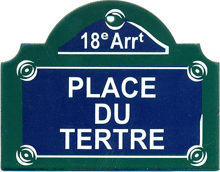 Paris Street Sign Quot Place Du Tertre Quot 4 Quot X3 Quot