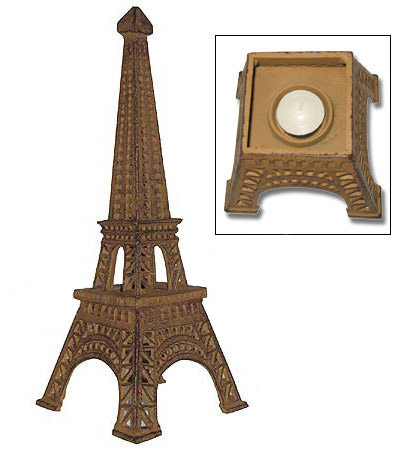 14 Eiffel Tower Candle Holder Gold Color Miniature