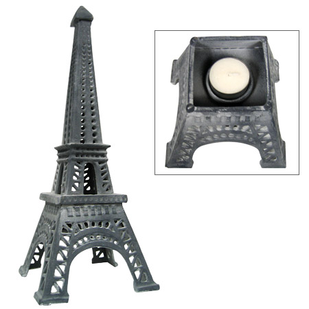14 Eiffel Tower Candle Holder Silver Color Miniature