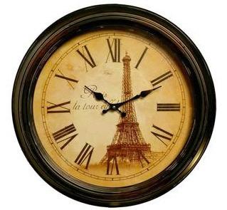 18 1 2 Quot D Paris Quot La Tour Eiffel Quot Iron Wall Clock