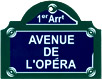 Paris Street Sign, Avenue de L'opera, 4x3