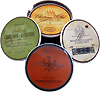 European Wine Label Coasters - Set Of Four Designs