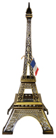 16 Eiffel Tower Replica, Antique Gold