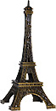 4  Eiffel Tower Mini Replica, Antique Gold