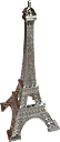 5  Eiffel Tower Mini Replica, Silver