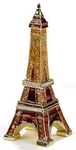Eiffel Tower Enamel Jeweled Trinket Box