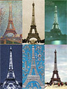 Paris Eiffel Tower - Set of 6 Museum Magnets