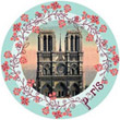 Notre Dame de Paris, Vintage Photo-Like Magnet