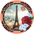 Paris - Vintage Photo-Like Magnet
