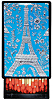 Blue Eiffel Tower Little Lacquer Slide Box
