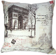 Decorative French Pillows - Arc De Triomphe Themed