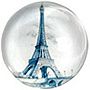 Paris Glass Magnet - Eiffel Tower