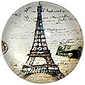 Paris Glass Magnet - Old Postal Eiffel Tower