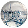 Paris Glass Magnet - Eiffel Tower and Seine River