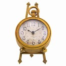 French Decor of Vintage Rue de la Paix Clock with Easel, 8.25H