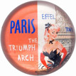 Chic French Style Paperweight - Arc de Triomphe & Eiffel Tower
