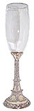 Enamel Jeweled Eiffel Tower Champagne Glass, 9.5 H