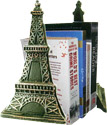 Eiffel Tower Bookends, Metal, 9H - Set of 2