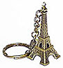Eiffel Tower Miniature Replica, Antique Two-Tone Gold Color Key Chain