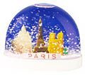 Paris Monuments Snowglobe, Blue, Large