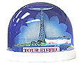 Tour Eiffel Snowglobe, Blue Small