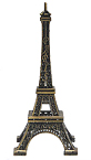 6 Eiffel Tower Miniature Replica, Antique Gold