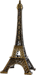 7  Eiffel Tower Miniature Replica, Aged Bronze