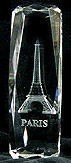 3D Laser-Etched Crystal - Eiffel Tower, Large