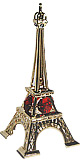 5  Eiffel Tower Miniature in Gold w/ Red Color Austrian Crystal