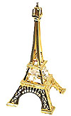 5  Eiffel Tower Miniature in Gold w/ Clear Austrian Crystal