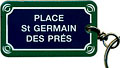 Paris Street Sign Keychain,  Place Saint-Germain des Pres