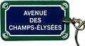 Paris Street Sign Keychain,  Avenue Des Champs-Elysees