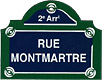 Paris Street Sign,  Rue Montmartre , 4 x3