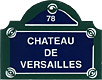 Paris Street Sign,  Chateau De Versailles , 4 x3