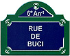 Paris Street Sign,  Rue de Buci , 4 x3