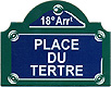 Paris Street Sign,  Place du Tertre , 4 x3