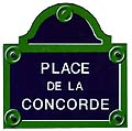 Paris Street Sign Replica,  Place de la Concorde , 6 x6