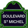 Paris Street Sign Replica,  Boulevard St. Michel , 6 x6