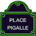 Paris Street Sign Replica, Place Pigalle, 6x6