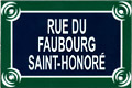 Paris Street Sign Replica,  Rue Du Faubourg Saint-Honore , 6 x4