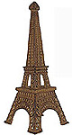 14  Eiffel Tower Candle Holder - Gold Color Miniature