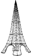 30  Wire Eiffel Tower, Black