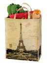 Old Postal Style Eiffel Tower Utility Tote