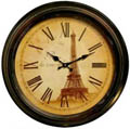 18-1/2 D Paris -  la tour eiffel  Iron Wall Clock