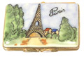 French Limoges Box, Eiffel Tower Postcard