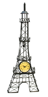24 Eiffel Tower Wall Decor w/ Clock