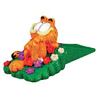 Garfield Door Stop,  Relaxing in the Flowers