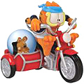 Fastest Cat In Town, Garfield Figurine with Water Globe